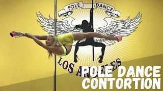 Pole Dance Contortion. Stretching
