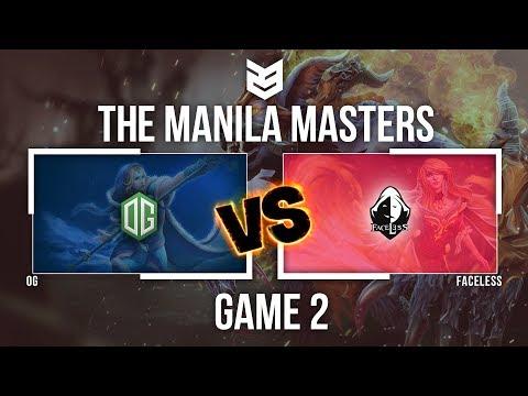 Master Manila | OG vs Faceless - Game 2 - Caster : Hoangkyanh