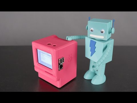 3D Printed Mini Mac Raspberry Pi