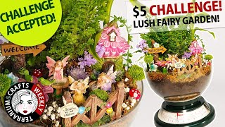 Fairy Garden - Miniature Garden | $5 Goodwill Challenge - Summer 2019 | Thrift / Charity Store DIY
