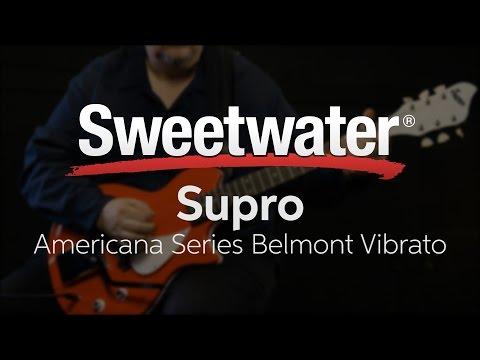 Supro Americana Series Belmont Vibrato Electric Guitar Demo