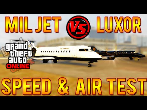 GTA 5 Mil Jet VERSUS Luxor 1.16! Plane VS Plane Air & Land Speed Test #CarVersusCar