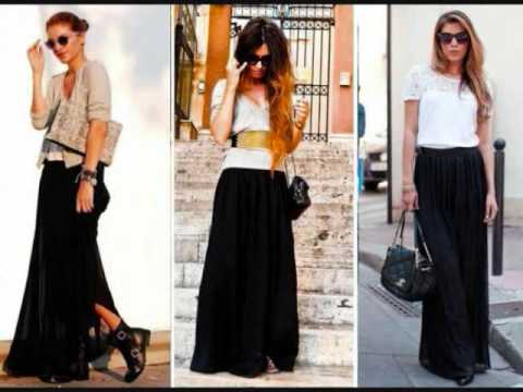 Como combinar falda negra - YouTube 06e378199ff5
