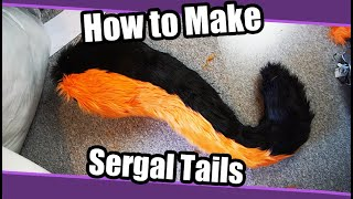 //Tutorial #86// How To Sergal Tails For Fursuit + PDF Pattern