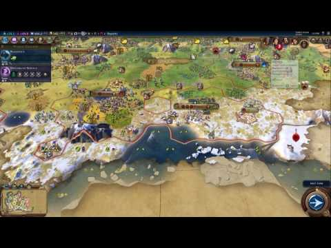 Civilization VI: Spring Patch Playthrough Part 2 (Deity, Scythia, Continents)