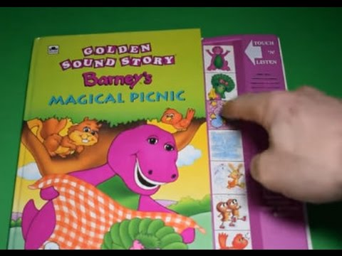 GOLDEN SOUND STORY BARNEY'S MAGICAL PICNIC SOUND BOOKS FUN TOYS ELECTRONIC BUTTONS TODDLERS READ