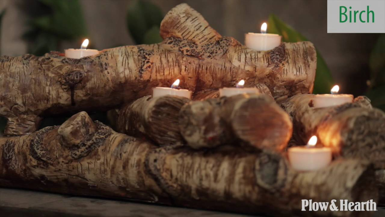 logs hearth candle holder sku 13941 plow u0026 hearth youtube