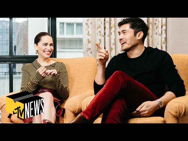 Emilia Clarke & Henry Golding on Christmas Movies, James Bond & Jason Momoa 🎄 MTV News