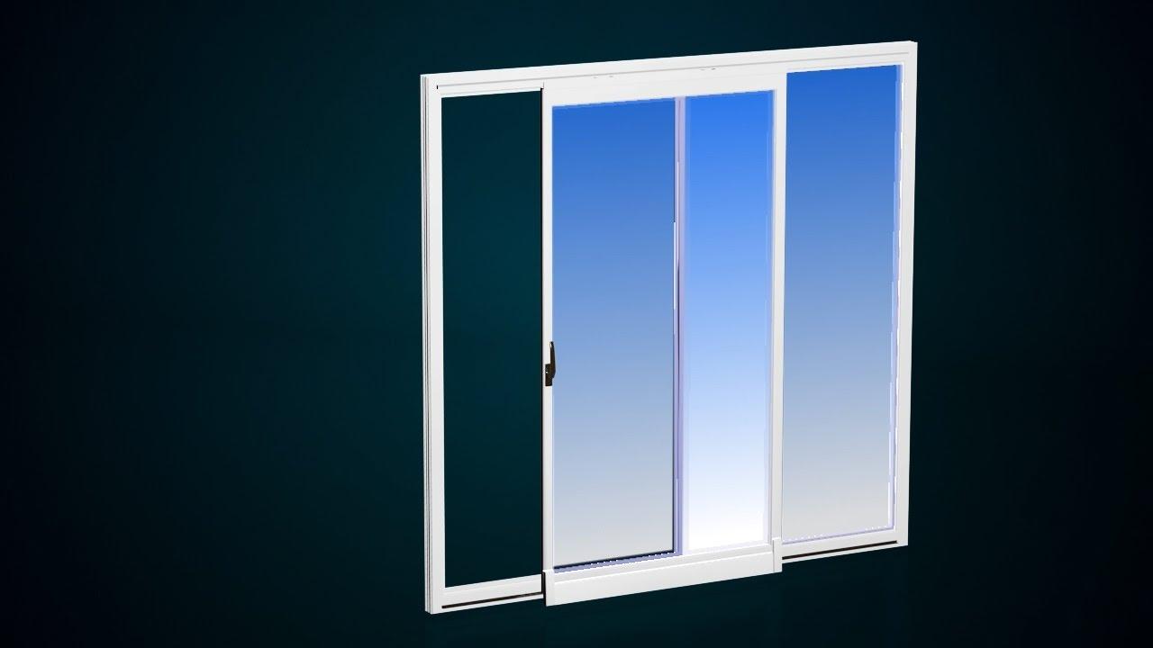 Scorrevole traslante finestre in pvc masterplast youtube - Finestre pvc rehau ...