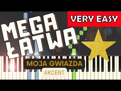 Moja Gwiazda (Akcent) - Piano Tutorial (MEGA ŁATWA wersja)