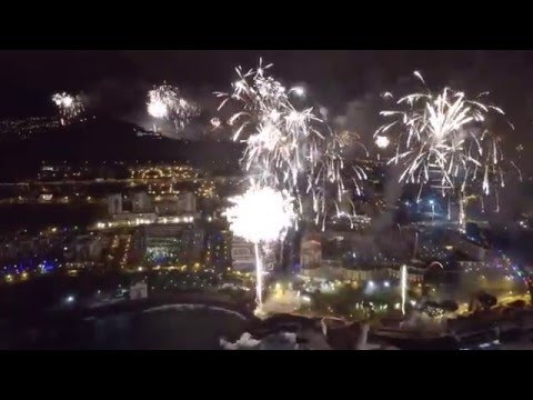 Fireworks filmed with a drone, Funchal, Madeira, 2016