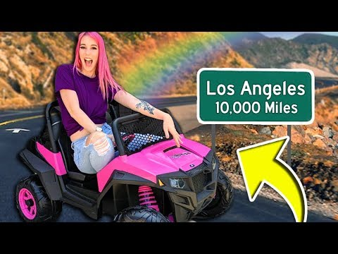 I Tried to Drive ACROSS COUNTRY in a TOY CAR Challenge!! Ft. MeganPlays