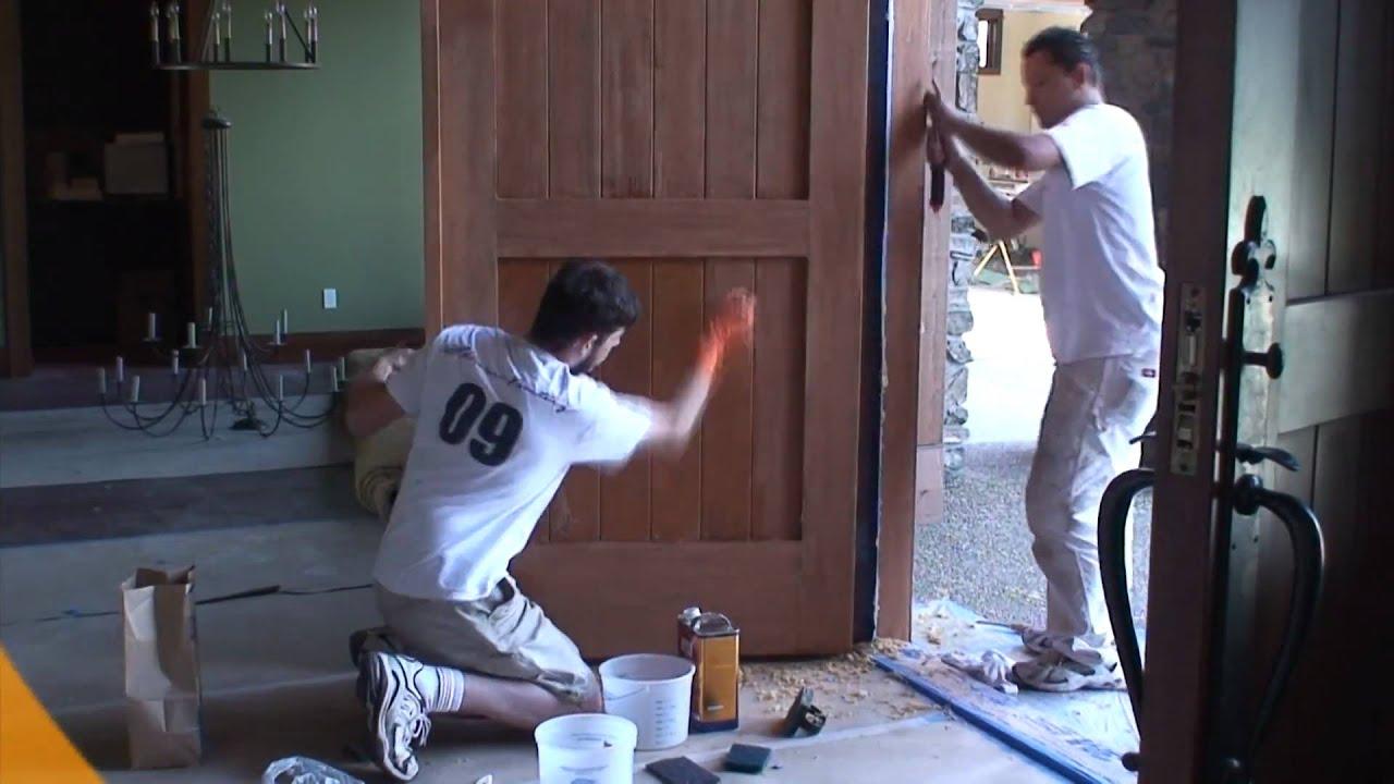 Wood door restoration youtube wood door restoration rubansaba