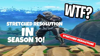 Fortnite *NEW STRETCHED RESOLUTION* in SEASON 10! After Patch!