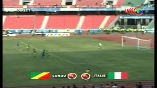 Match amical Congo   Italie dans l