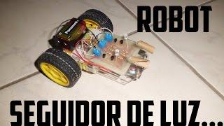 Robot seguidor de luz (Fácil de hacer)