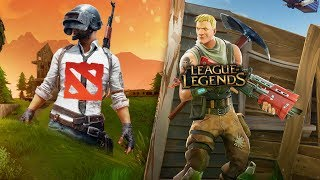 Fortnite vs PUBG = League of Legends vs. DOTA2