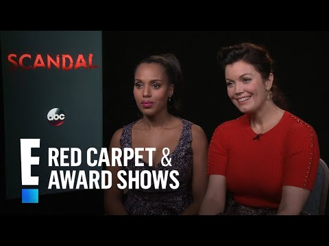 """Kerry Washington & Bellamy Young Gush Over """"Scandal"""" Family 