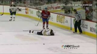 Montreal Fans Cheer After Zdeno Chara Takes A Puck To The Face