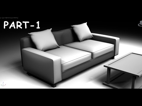 Modeling Simple Sofa 3DS MAX 2015 Tutorial   YouTube