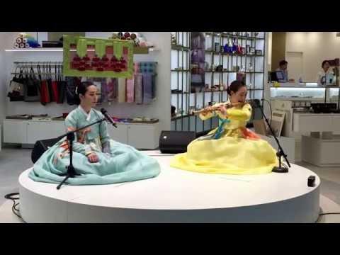 Korean traditional music performance in incheon international airport
