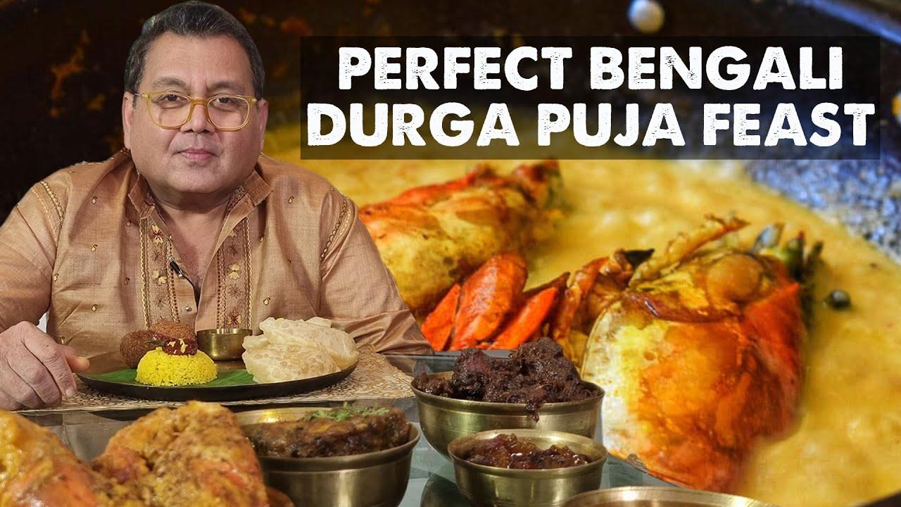 Durga Puja Special Food   Chingri Malai Curry Recipe   Perfect Bengali Prawn   Kosha Mangosho