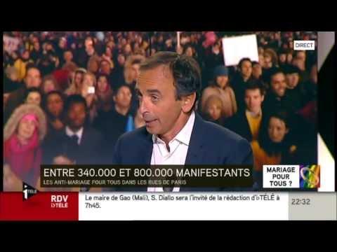 «Mariage Gay »  : Zemmour Recadre Trois Journalistes / Toute La Vérité à Lire