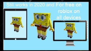 How to become spongebob in roblox for free