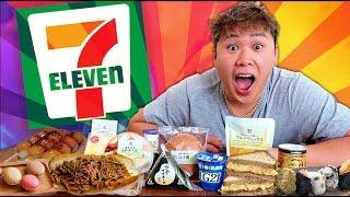 【MUKBANG】Eating BREAKFAST at 7-ELEVEN Japan ★ ファーストフードの朝食