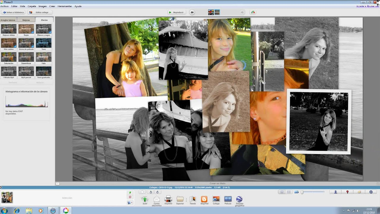 Hindi]how to create cool thumbnail in picasa  picture collage.