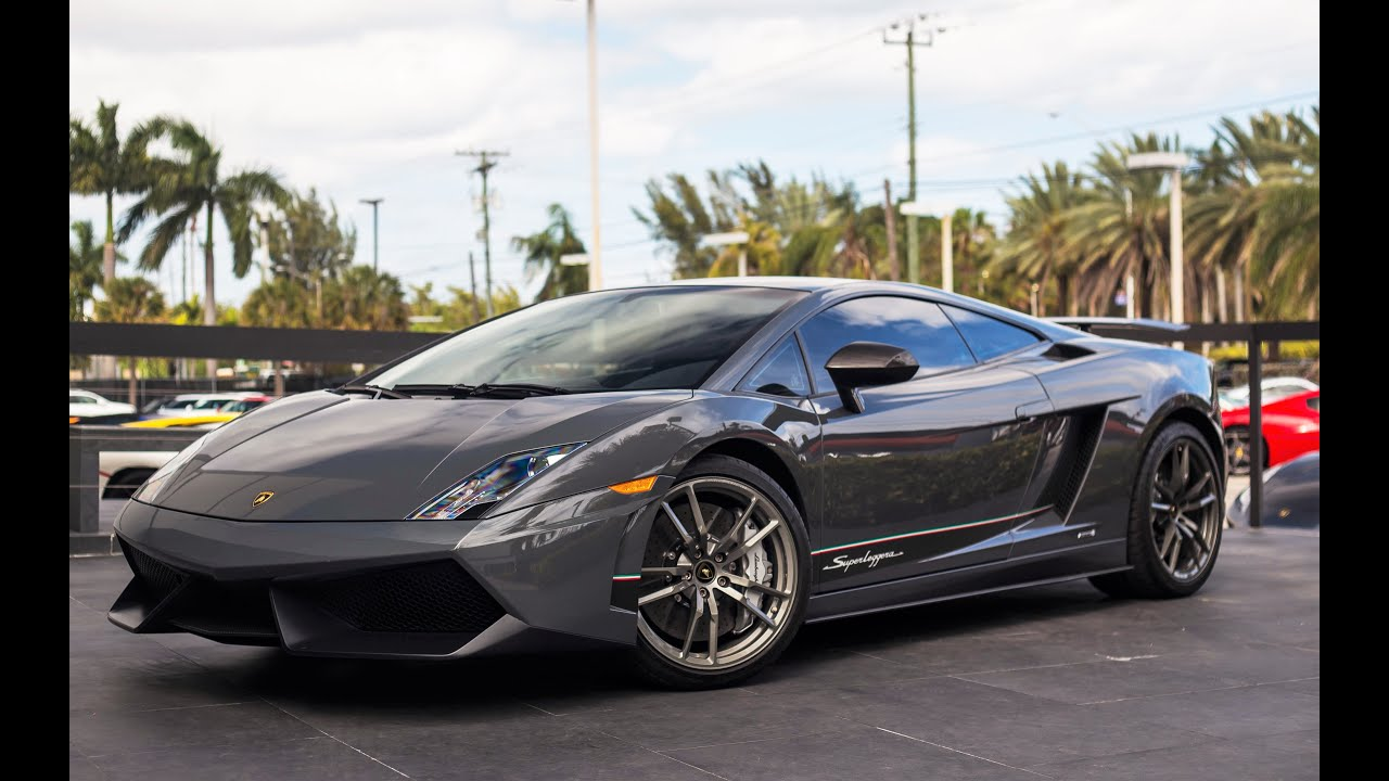 lamborghini gallardo lp 570 4 superleggera 562 hp v10 engine sound drive at lamborghini miami. Black Bedroom Furniture Sets. Home Design Ideas