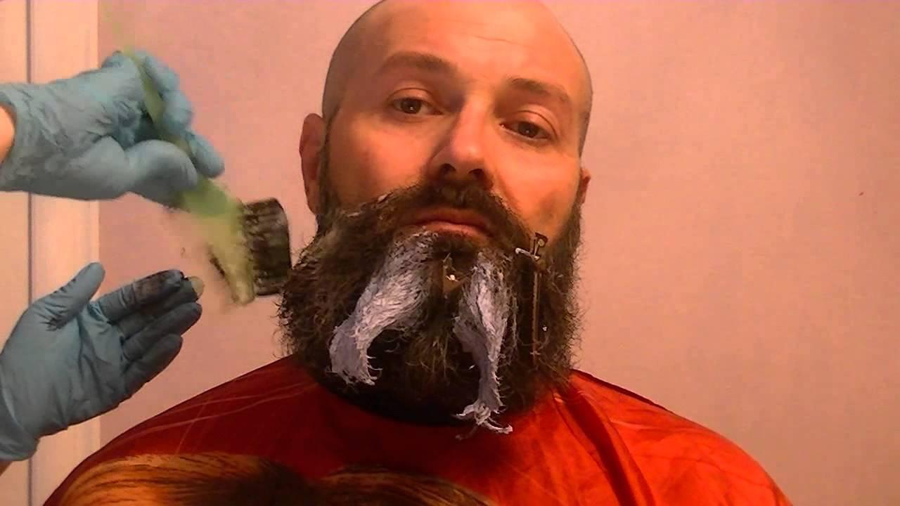 Как покрасить бороду в черный цвет