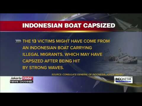 Indonesian Boat Capsized Carrying 13 Victims