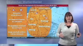 28.09.2019 Unwetterinformation - Deutscher Wetterdienst (DWD)