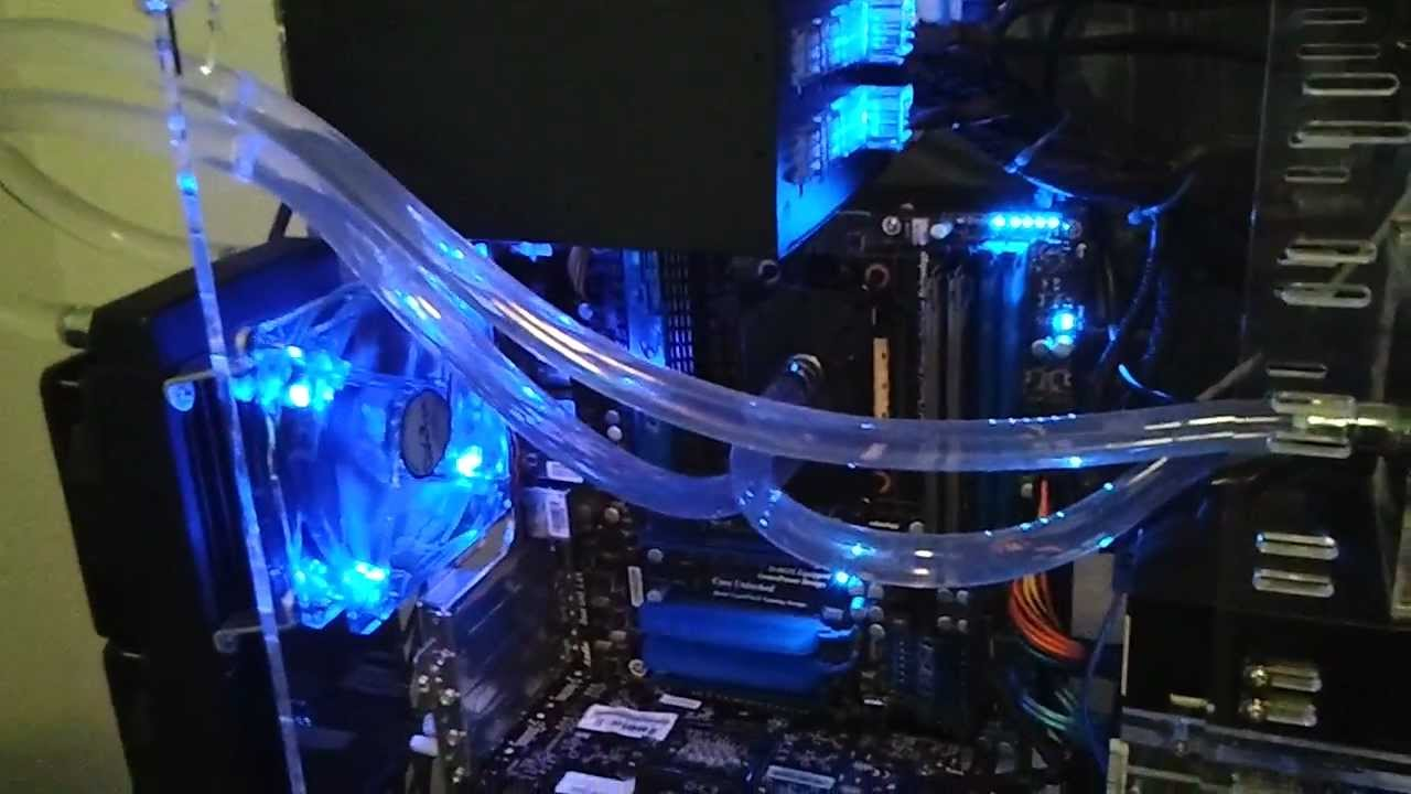 Water Cooled Clear Acrylic PC 1st Power Upmp4