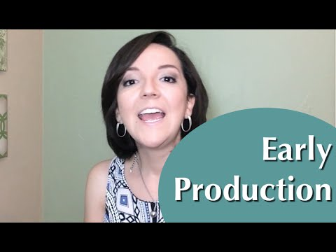 Early Production - 1-2 word responses