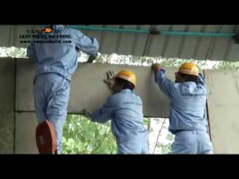Installation Video of Vanjoin Sandwich Wall Panel