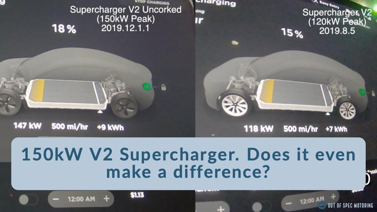 Tesla 150kW vs 120kW Supercharging   2019 12 1 1