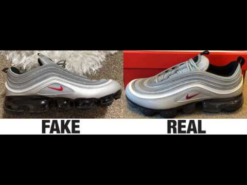 check out 209dc 19e4a How To Spot Fake Nike Air VaporMax 97 Sneakers / Trainers Authentic vs  Replica Comparison