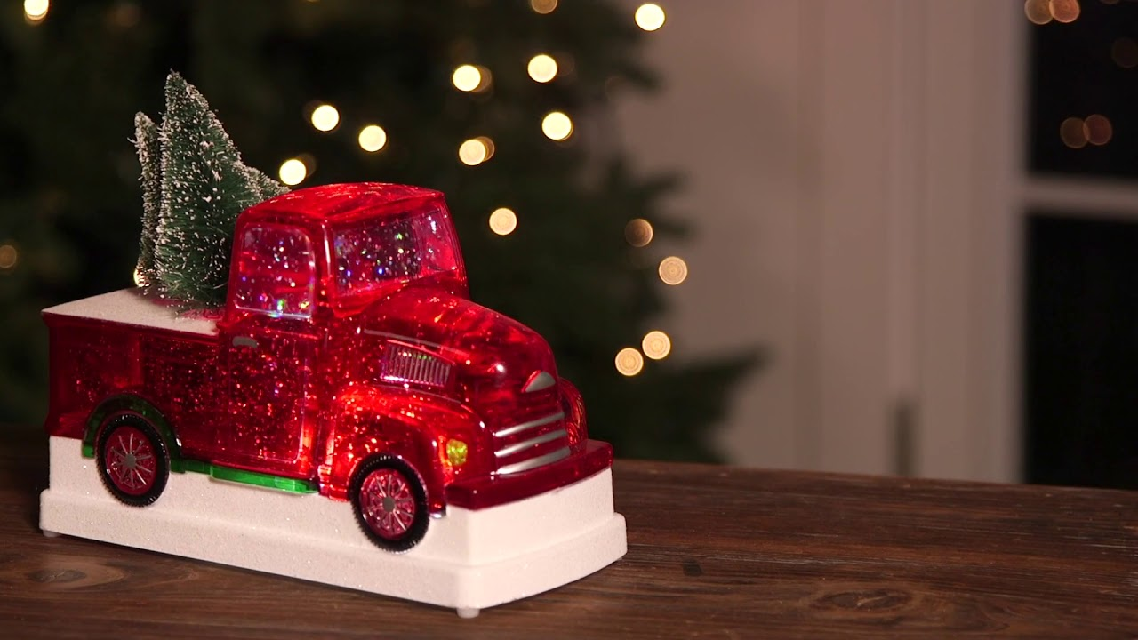 LED Truck with Tree 8LED507 from Cypress Home
