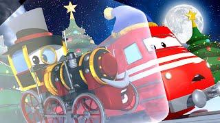 列車のトロイと 🚄  ヒートトレインがバイロン卿を暖める!  🚄 カーシティーにいる l 子供向けトラックアニメ Train Cartoons for Children