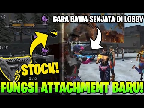 fungsi-attachment-baru-stock?-dan-cara-bawa-senjata-di-lobby!---garena-free-fire