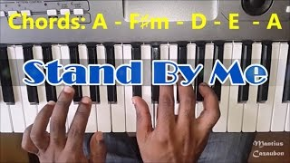 How To Play Stand By Me by Ben E. King - Piano Tutorial - Original Key