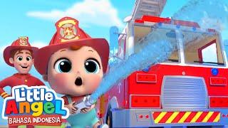 Ayo Jadi Pemadam Kebakaran!oeLagu Kendaraan | Little Angel Bahasa Indonesia