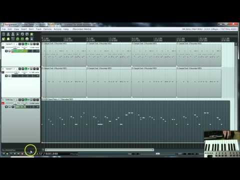 #2.2 Creating a basic Hip Hop Beat with Midi layers in Reaper - iRig Pads