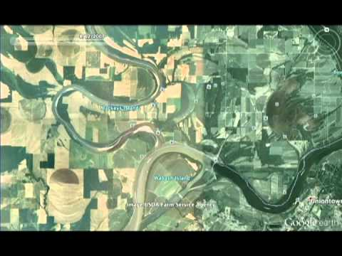 Confluence of the Wabash River and Ohio River Time Lapse