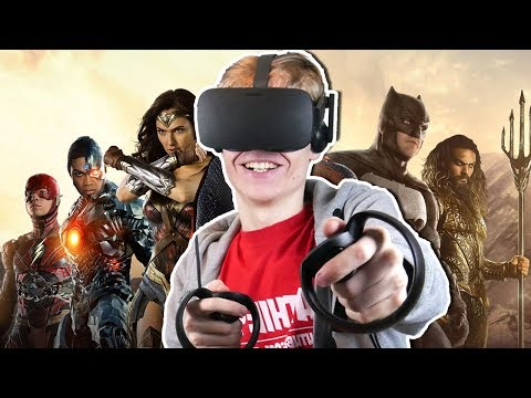 JUSTICE LEAGUE SIMULATOR IN VIRTUAL REALITY! | Powers VR (Oc