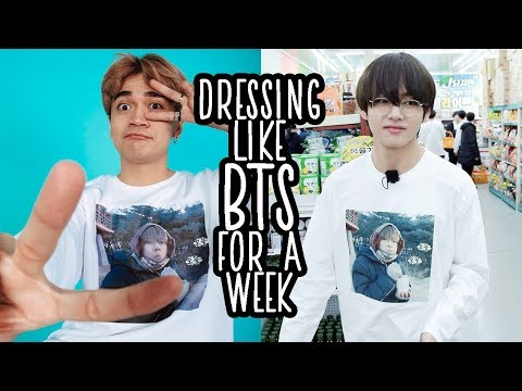 DRESSING LIKE BTS FOR A WEEK // Luigi Pacheco