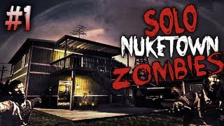 Black Ops 2 Nuketown Zombies First Attempt Pt. 1 Rounds 1-13 Live Commentary Xbox 360