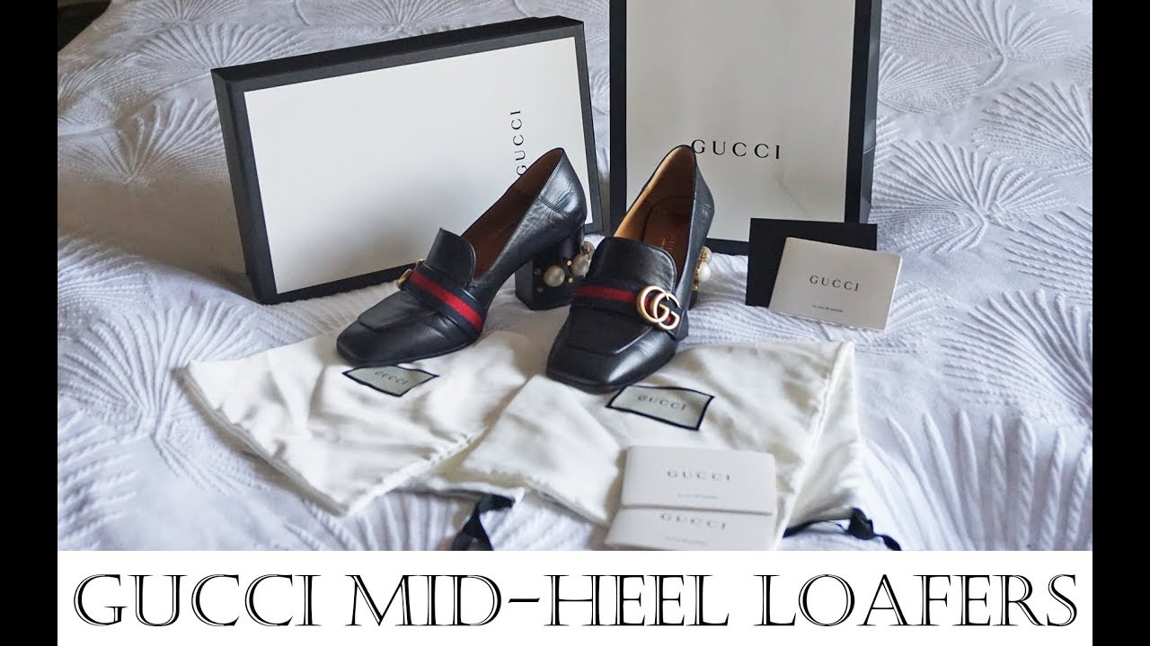 584fb9e9b Gucci leather mid heel loafer review - sizing, history quality, comfort inc  comparison. Worth it?